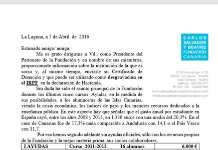 Carta a los socios - IRPF 2016