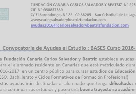 NOTA INFORMATIVA PARA LOS INSTITUTOS DE CANARIAS