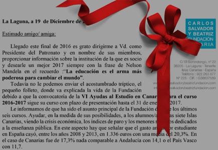 Carta a los socios - Navidad 2016